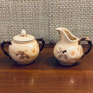 VTG Franciscan Cafe Royal Creamer & Sugar Bowl Set